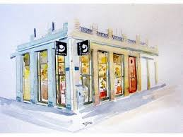 Dessin aquarelle boutique